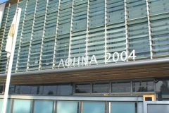 Headquarter building of the Athens 2004 Olympics Stock Footage