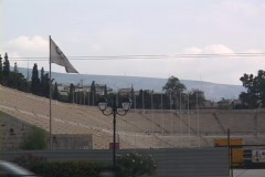 Panathenaic Stadium in Athens, Greece Stock Footage