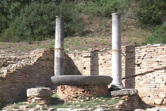 The ancient Olympic flame torch, cauldron at Olympia, Greece Stock Footage