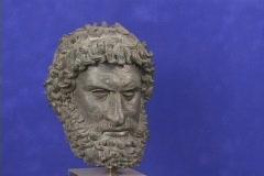 Bronze, head (bust), boxer, pugilist (Replica) Stock Footage