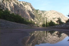 The Pythian Games stadium at Delphi, Greece Stock Footage