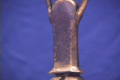 "Bronze statuette of a woman (Helen of Troy?) called the ""Bronze Lady of the Stock Footage"