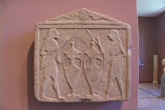 Relief votive sculpture (stele) depicting Castor & Pollux (The Dioscouri) from Stock Footage