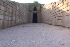 "Beehive Tholos ""Tomb of Clytemnestra"" at Mycenae, Greece Stock Footage"