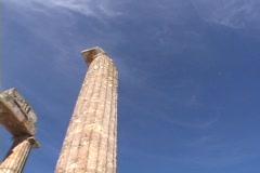 The Temple of Nemea Zeus at Nemea, Greece Stock Footage