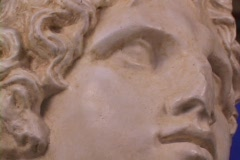 Bust of Alexander the Great (Replica) Stock Footage