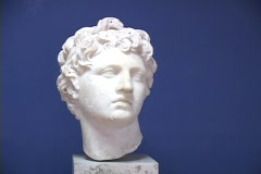Bust of Alexander the Great Stock Footage
