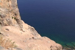 The Acropolis of Lindos on the Greek islands of Rhodes, Greece Stock Footage