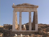 Stock Video Footage of The Temple of Isis on the Greek island of Delos, Greece