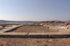 The Temple of Apollo on the Greek island of Delos, Greece Stock Footage