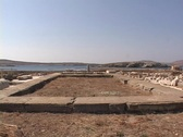 Stock Video Footage of The Temple of Apollo on the Greek island of Delos, Greece