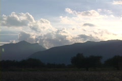 Mt. Olympus mountain range in Greece Stock Footage