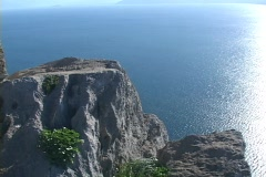Mountain promontory in Nafplion, Greece Stock Footage