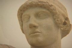 Marble statue of the Greek/Roman god Apollo Stock Footage