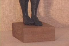 Bronze statuette of the Greek/Roman god Apollo Stock Footage