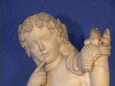 Marble statue of the Greek god Dionysus (or Roman Bacchus) Stock Footage