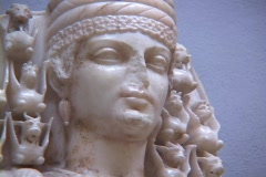 Marble statue of the Greek goddess Artemis (or Roman Diana) - stock footage
