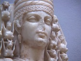 Stock Video Footage of Marble statue of the Greek goddess Artemis (or Roman Diana)