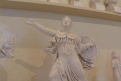 Stock Video Footage of Marble statuette of the Greek goddess Athena (Roman Minerva)