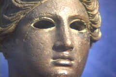 Bronze bust of Nike, Greek goddess of Victory Stock Footage
