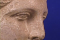 Marble Bust of the Greek goddess Hygeia Stock Footage