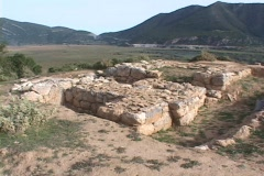 The ruins of Stymphalos (site of the Stymphalian Birds labor of Hercules) Stock Footage