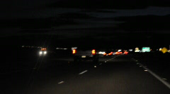 blurry night driving 8 - stock footage