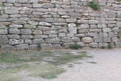 Troy VI wall at Troy (in modern day Turkey) Stock Footage