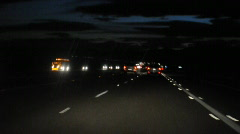 blurry night driving 7 - stock footage