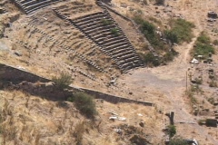 The theater at Pergamum (in modern day Turkey) Stock Footage