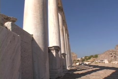 The Roman Temple of Trajan at Pergamum (modern day Turkey) - stock footage