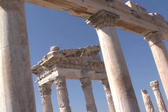 The Roman Temple of Trajan at Pergamum (modern day Turkey) Stock Footage