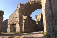 The Tholos of the Asclepion at Pergamum (modern day Turkey) Stock Footage
