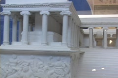 Small scale model of the Altar of Zeus at Pergamum Stock Footage