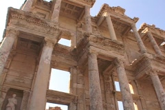The Library of Celsus at Ephesus (modern day Turkey) Stock Footage