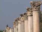 Stock Video Footage of Corinthian capitals/columns at Ephesus (modern day Turkey)