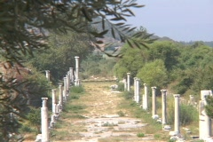 Harbor Street at Ephesus (modern day Turkey) - stock footage
