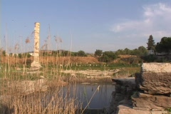 The ruins of the Temple of Artemis (Diana) at Ephesus (modern day Turkey) - stock footage
