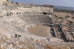 The theater at Miletus (modern day Turkey) - stock footage
