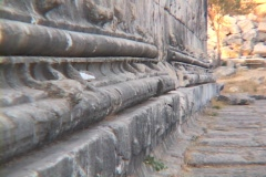 The entasis (curvature) of the Temple of Apollo at Didyma (modern day Turkey) Stock Footage
