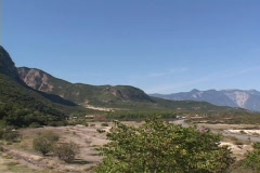 The site of the Battle of the Spartan 300 (Leonidas) at Thermopylae, Greece Stock Footage
