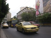 Stock Video Footage of City street traffic in modern Athens, Greece