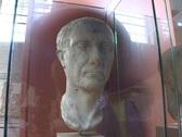 Marble bust of Julius Caesar Stock Footage