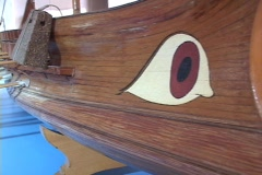 Ancient Athenian Trireme warship (model) Stock Footage