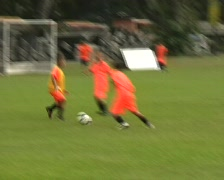 Kids Playing Soccer - stock footage
