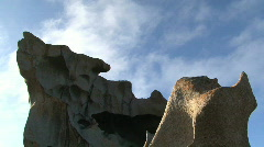 Stock Video Footage of remarkable rock