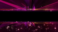 Glamour background with elements 3D, vj, sample text HD Stock Footage