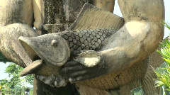 Giant fish statue Stock Footage
