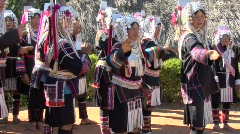 Akha Dancing and Singing Stock Footage