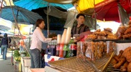 Fried Food Thai Style Stock Footage